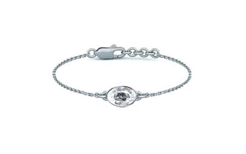 White Zircon Sterling Silver Bracelet (B2) for Women
