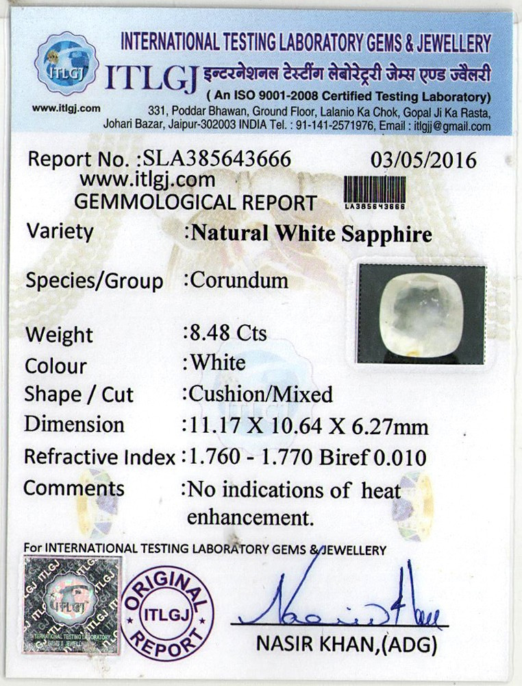 White Sapphire - 8.48 carats