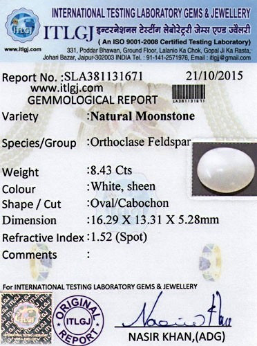 Moonstone - 8.43 carats