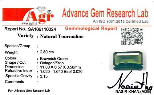 Brownish Green Tourmaline - 2.80 carats