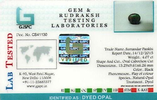 Black Opal - 4.07 carats