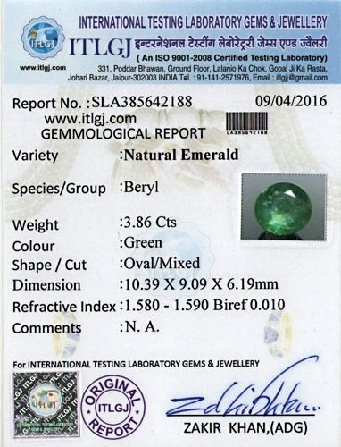 Emerald - 3.86 carats