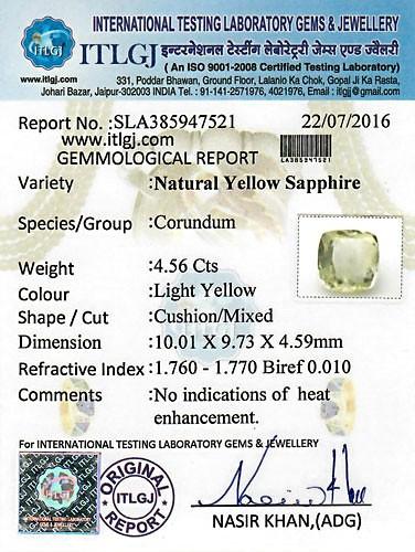 Yellow Sapphire - 4.56 carats