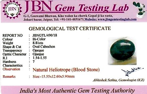 Bloodstone - 8.81 carats