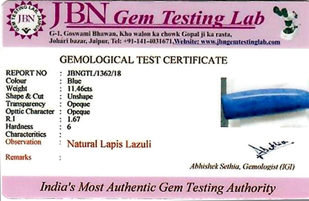 Lapis Lazuli - 11.46 carats
