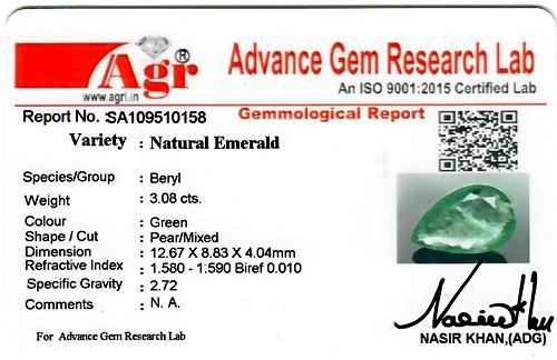 Emerald - 3.08 carats