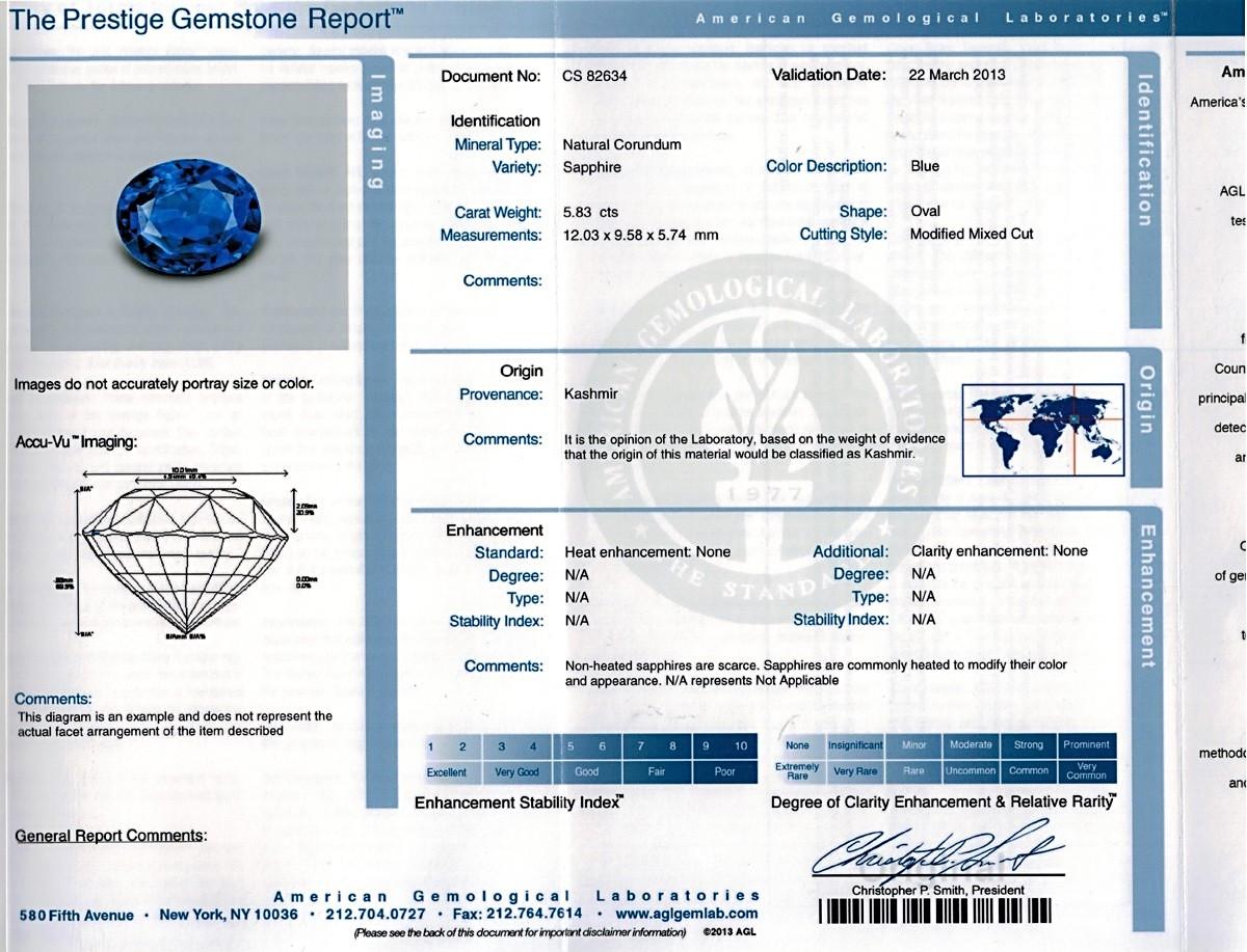 Blue Sapphire - 5.83 carats