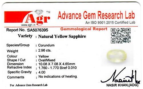 Yellow Sapphire - 2.96 carats