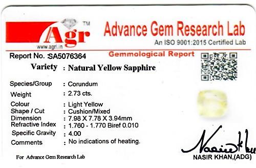 Yellow Sapphire - 2.73 carats