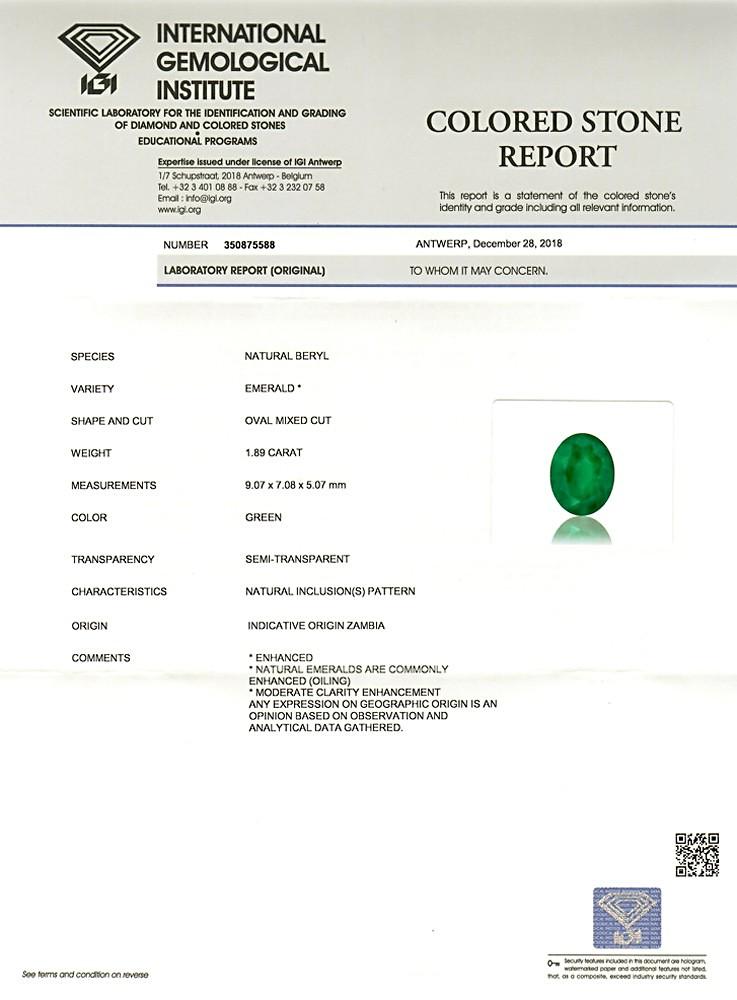 Emerald - 1.89 carats