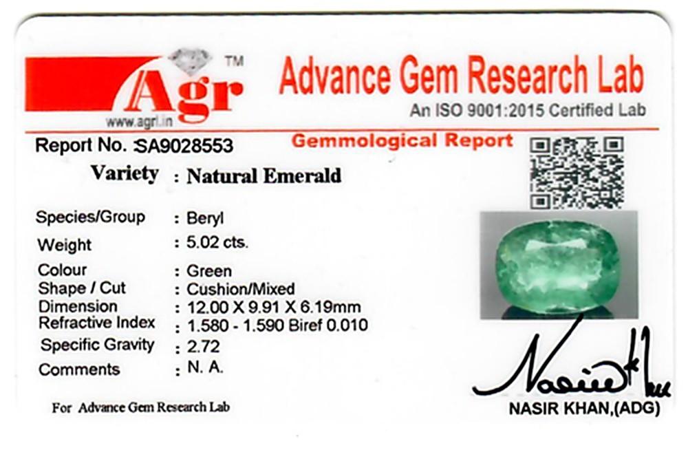 Emerald - 5.02 carats