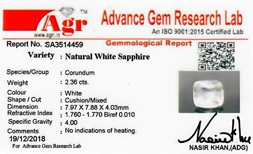 White Sapphire - 2.36 carats