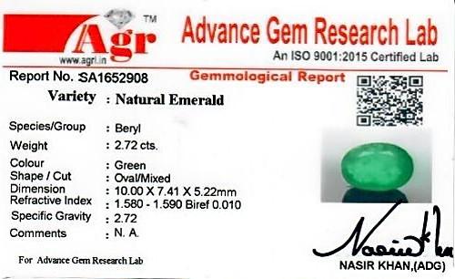 Emerald - 2.72 carats