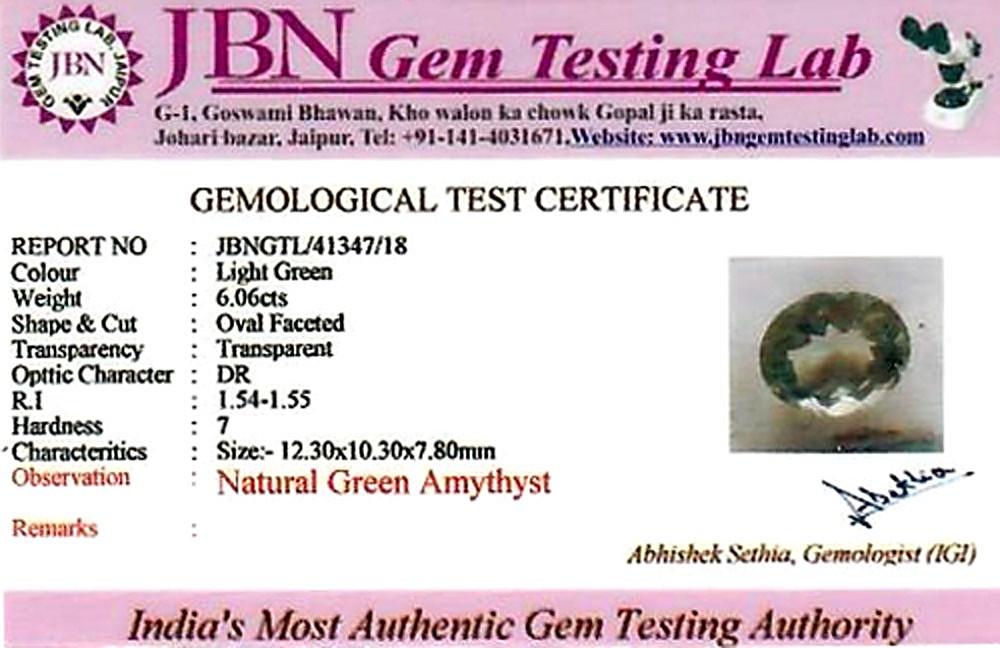 Green Amethyst (Prasiolite) - 6.06 carats