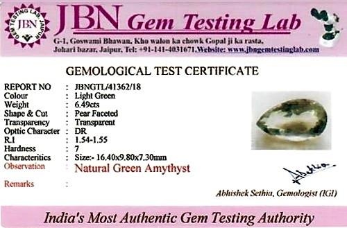 Green Amethyst (Prasiolite) - 6.49 carats