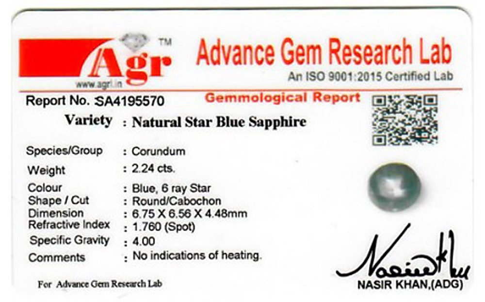 Star Sapphire - 2.24 carats