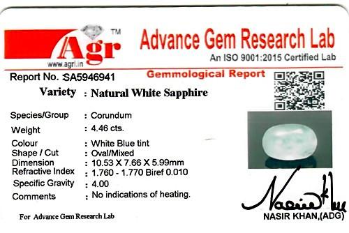 White Sapphire - 4.46 carats