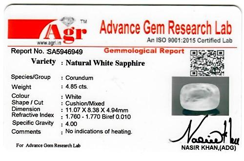 White Sapphire - 4.85 carats