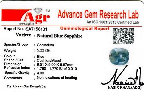 Blue Sapphire - 5.22 carats