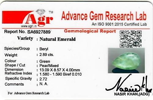 Emerald - 2.89 carats