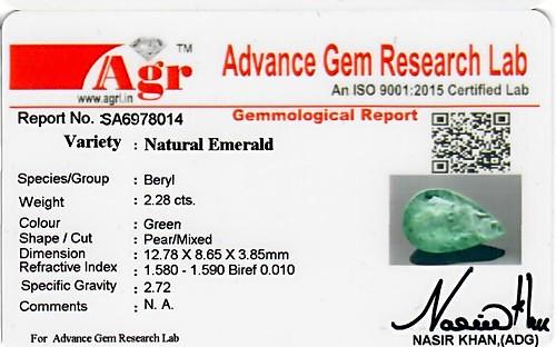 Emerald - 2.28 carats