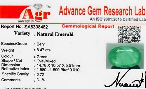 Emerald - 6.47 carats