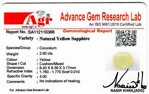 Yellow Sapphire - 2.90 carats
