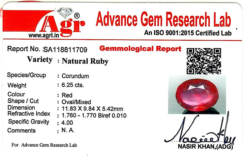 Ruby - 6.25 carats