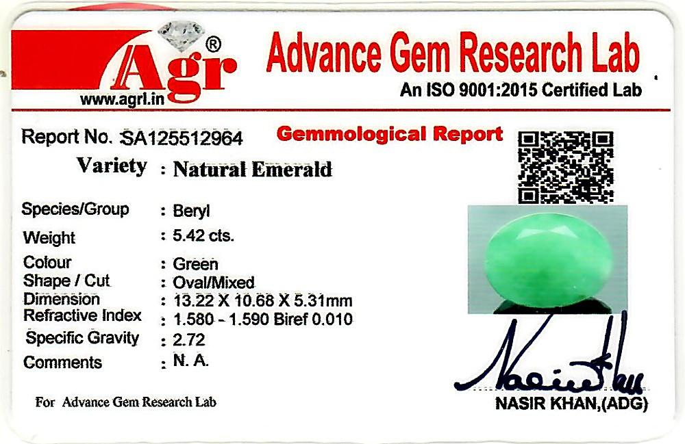 Emerald - 5.42 carats