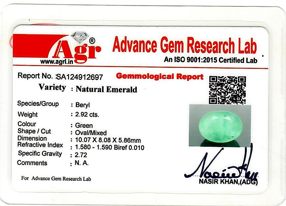 Emerald - 2.92 carats