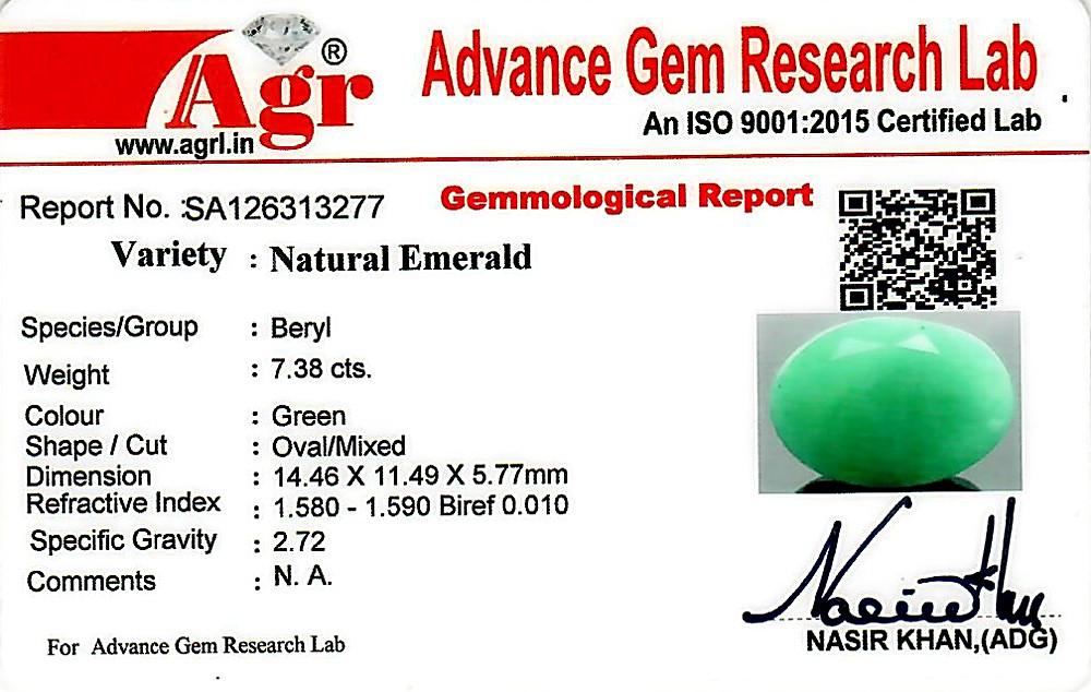 Emerald - 7.38 carats