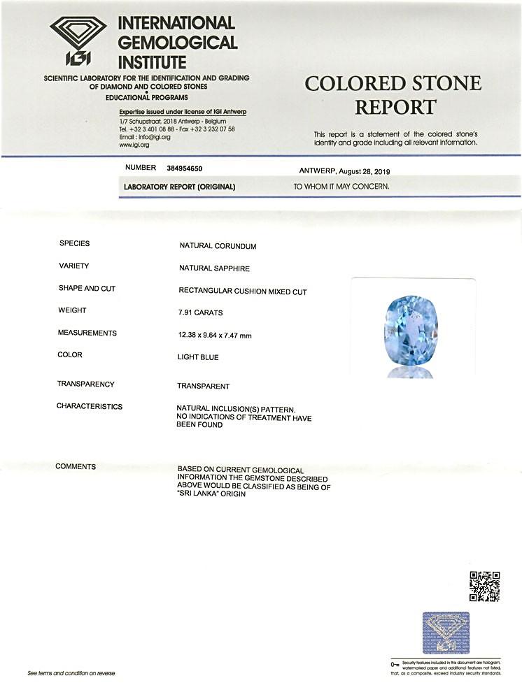 Blue Sapphire - 7.91 carats