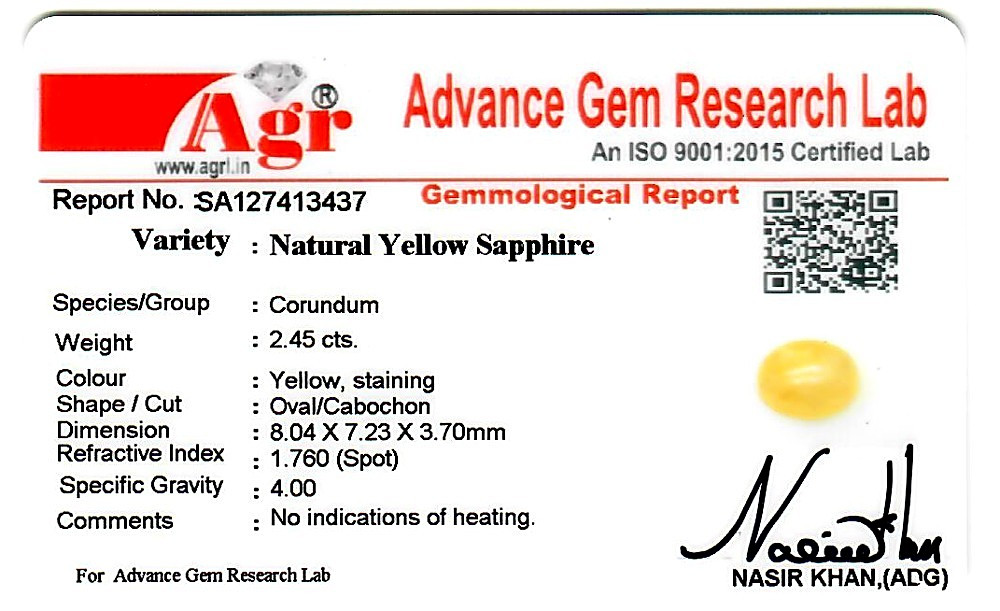 Yellow Sapphire - 2.45 carats