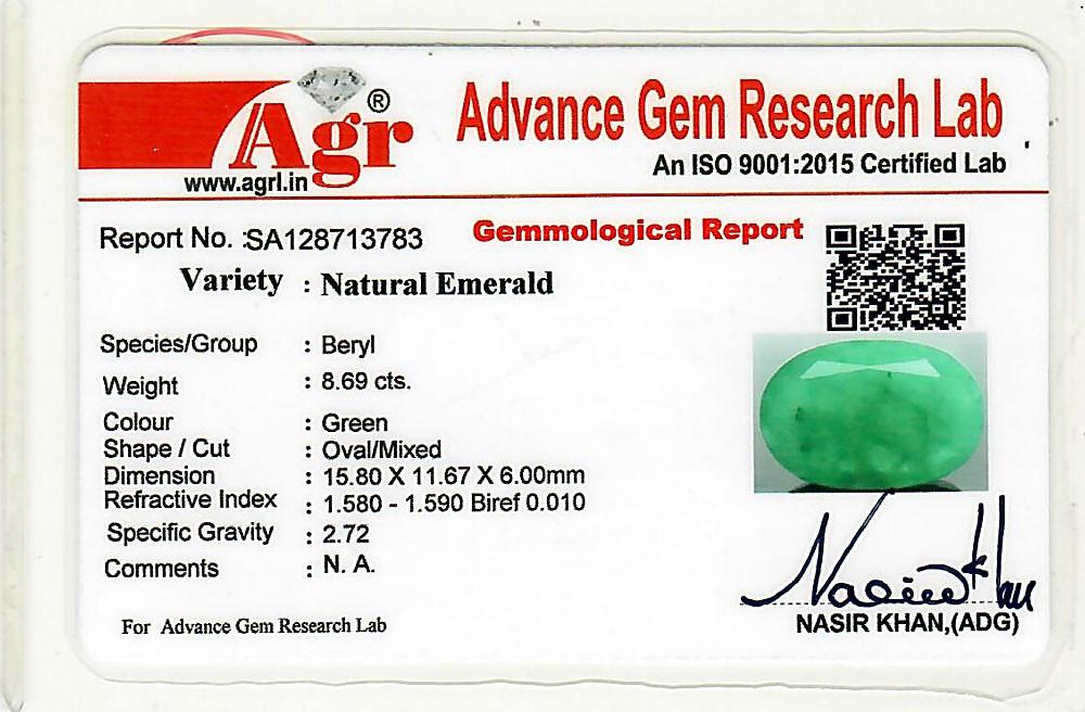Emerald - 8.69 carats