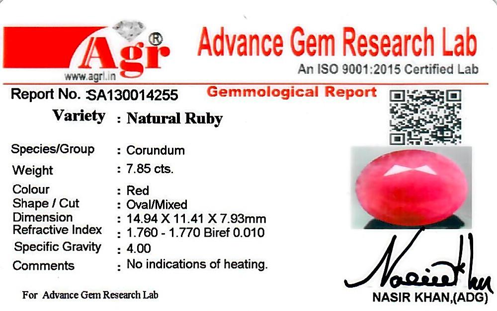 Ruby - 7.85 carats