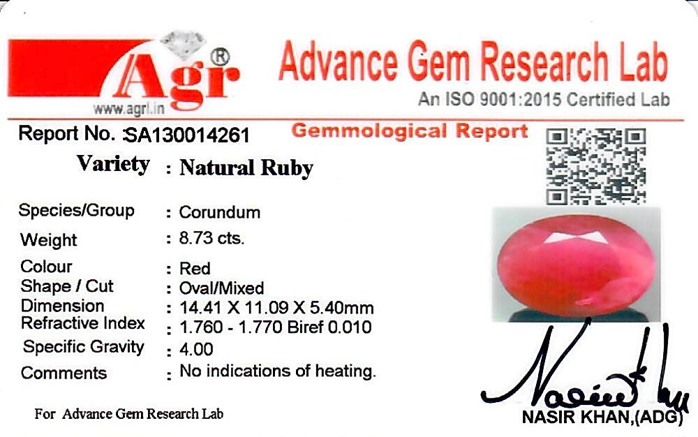 Ruby - 8.73 carats
