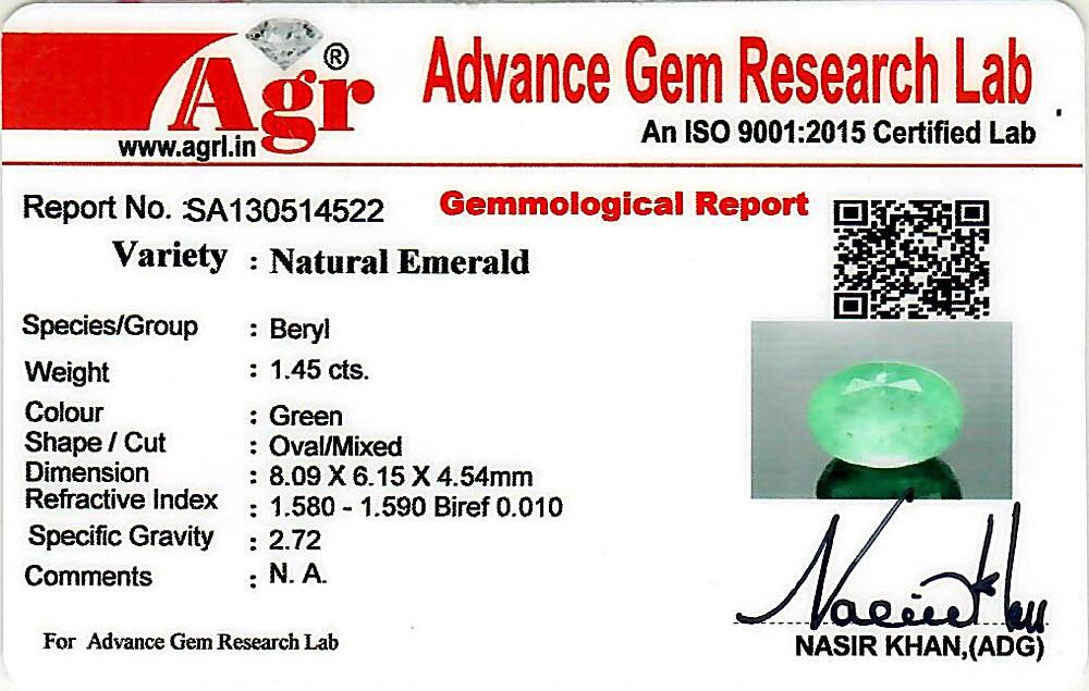 Emerald - 1.45 carats