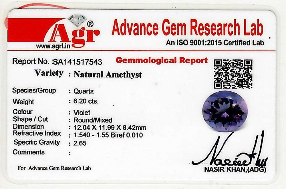 Amethyst - 6.20 carats