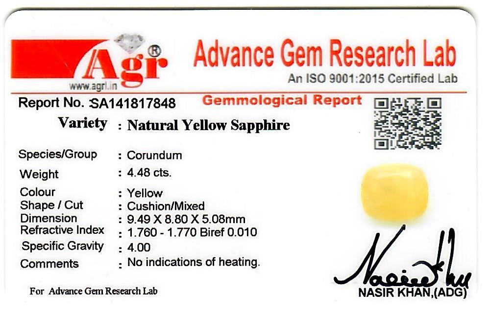 Yellow Sapphire - 4.48 carats
