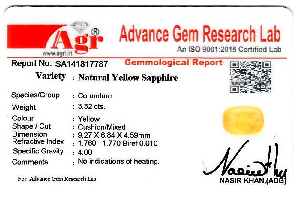 Yellow Sapphire - 3.32 carats