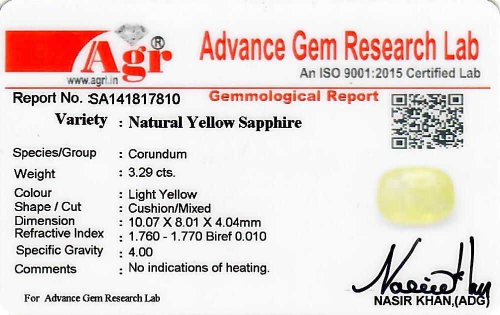 Yellow Sapphire - 3.29 carats