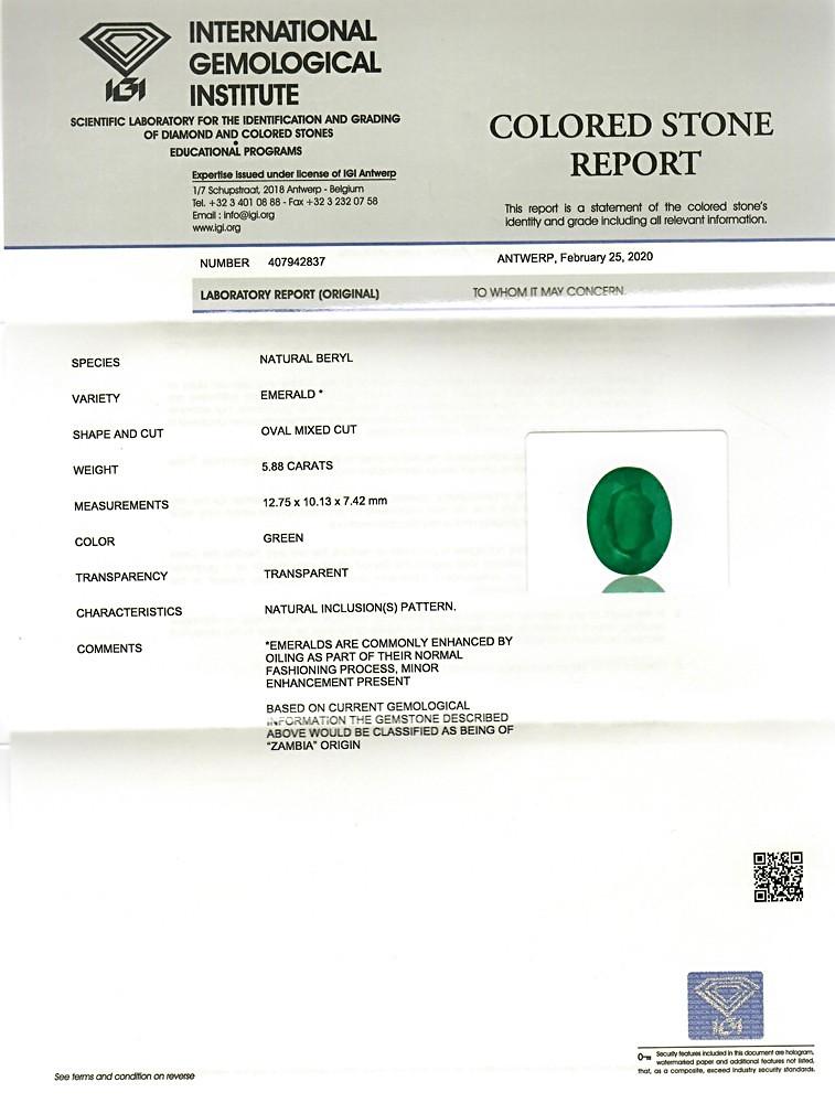 Emerald - 5.88 carats