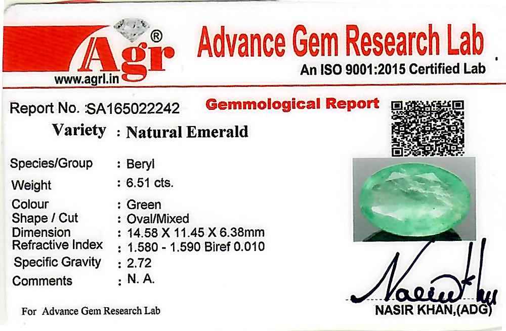 Emerald - 6.51 carats