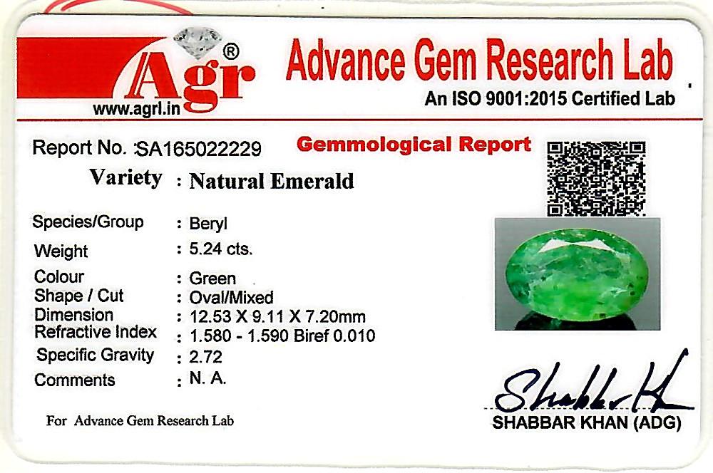 Emerald - 5.24 carats