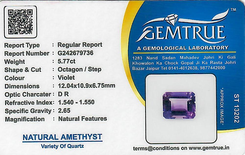 Amethyst - 5.77 carats
