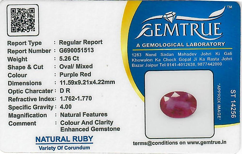 Ruby - 5.26 carats