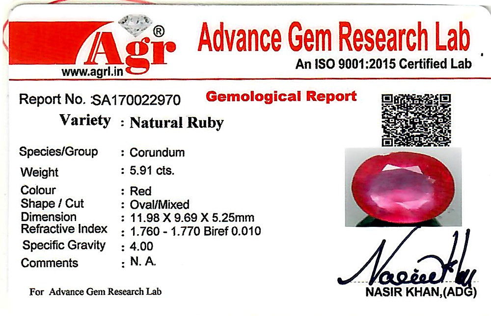 Ruby - 5.91 carats