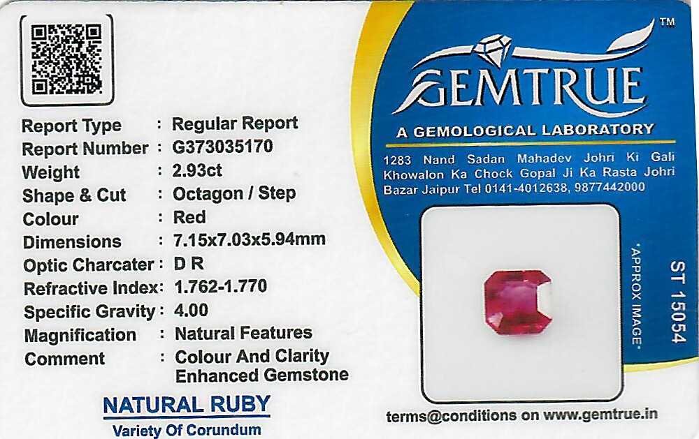 Ruby - 2.93 carats
