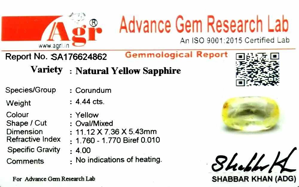 Yellow Sapphire - 4.44 carats