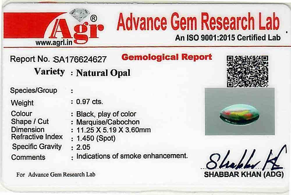 Black Opal - 0.97 carats